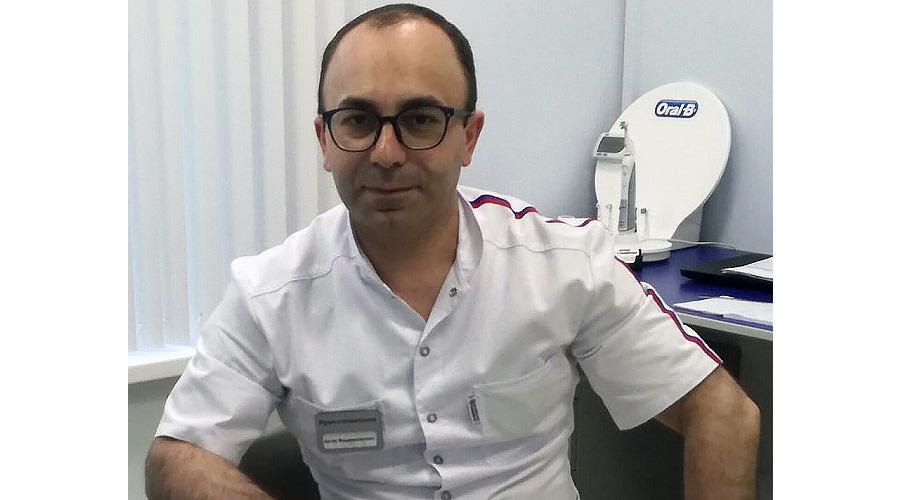 Дарбинян Артак Владимирович врач стоматолог стаж 15 лет